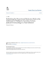 Rethinking the Proportional Reduction Rule in the Settlement of M