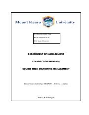 Brand Management Notes 1 20 Pdf Moi University Brand Management Bbm 434 To Equip The Students With A Comprehensive Framework Required For The Course Hero