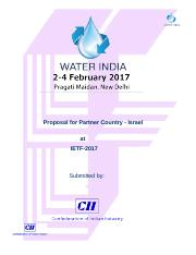 Water Proposal for Partner Country 2017