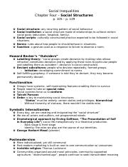 SP Notes - ch. 4, Social Structures.docx