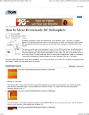 How to Make Homemade RC Hel...