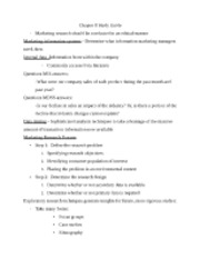 MKT 441 Chapter 8 Study Guide