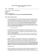 Alexa Strudler Homework Assignment #3 (COM 242) Summer 2013-1