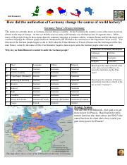 unification of germany worksheet