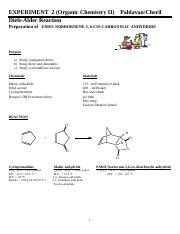 The Diels Alder reaction - Pahlavan