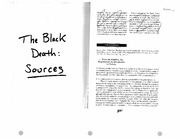 Facing the Black Death (Sources)