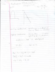 physics 111 acceleration study notes complete