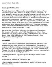 Highly Qualified Teachers Research Paper Starter - eNotes