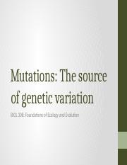5-Mutation The Source of Genetic Variation.pptx
