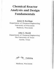 (CBE3223) Rawlings - Chemical Reactor Analysis and Design Fundamentals