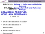 BIOL1010-F2015-Lecture 7-Lipids and Cell Membranes-posted(1)