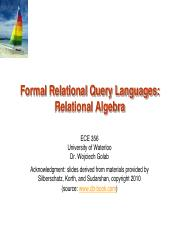part03 - Formal Relational Query Languages