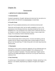 Psychology 2012 - Chapter 6 & 7