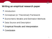 Empirical Paper Outline