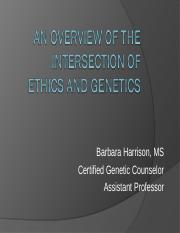 The Intersection of Ethics and Genetics-stud vers.ppt