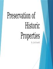 Preservation of Historic Properties.pptx