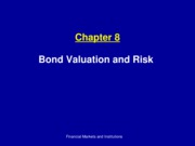 Ch8_ Bond Valuation and Risk