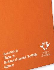 Week 6 -  The theory of demand the utility approach(1)