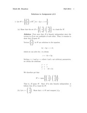MATH 60 Fall 2014 Assignment 11 Solutions