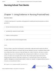 Chapter 1_ Using Evidence in Nursing Practice(Free) _ Nursing School Test Banks