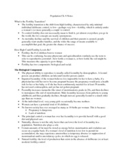 Population Ch.6 Notes