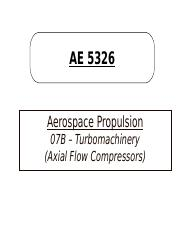 07B-Axial Flow Compressors