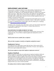 Employment_Law_Outline_copyright 2010 R. Kowal