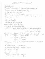 Complex Analysis Notes