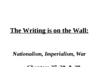 Nationalism Imperialism War Student