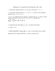 Mathematics 317T2 Assignment10