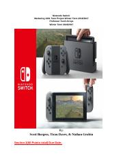 Nintendo Switch Marketing Part 1