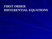 02 First Order Differential Equations