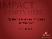 L3 - Systems Analysis Process Techniques