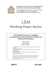 The Political Economy of Capabilities Acumulation Past and Future for Industrial Development