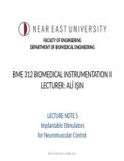 BME 312 Biomedical Instrumentation II-Lecture Note 5-Implantable  Stimulators for Neuromuscular Cont