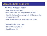 Class 091 - Magnetic Field and Force