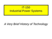 Mechanical Systems-Technology History