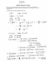 Sample Midterm Solutions #2