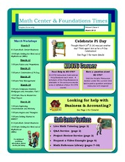 March 2012  Math Center Newsletter