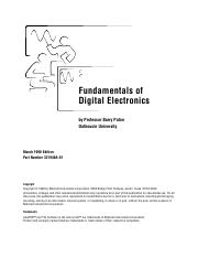 ebook - Engineering - Fundamentals of Digital Electronics