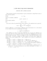 Heat Equation Problems