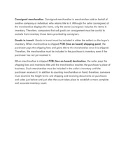 Consigned merchandise