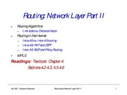NetworkRoutingII