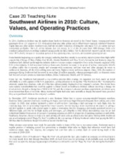 is there anything you find particularly impressive about southwest airlines Case 23: southwest airlines in 2008: is there anything that you find particularly impressive about southwest airlines 2.