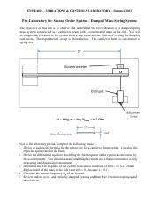 Pre-lab #6 Second order system - damped mass-spring system(1)
