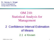 2.1 Interval Estimation - sigma known [Key Concepts - short]