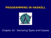 Haskell chapter10