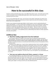 How to be successful in this class.docx