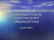 CH .1 The Role of Comm.