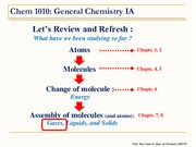Chem 1010 - Chapter 7.0 Gases